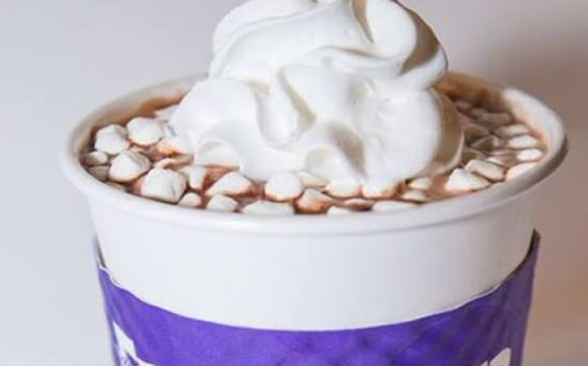specialty hot chocolate beverage