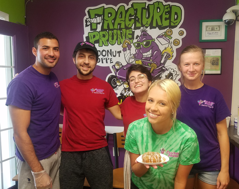 five happy employees of Fractured Prune
